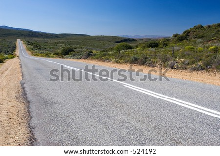 The long lonely road - Western Cape, South Africa