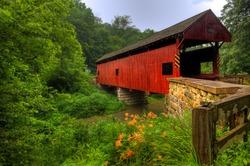 The Longdon Covered Bridge in Pennsylvania