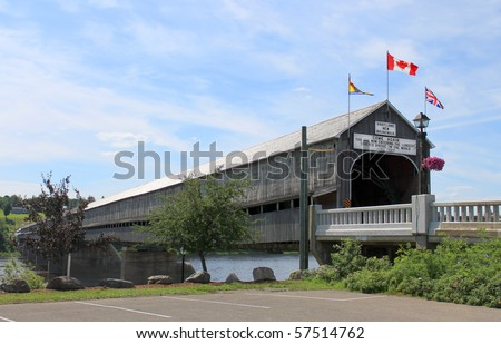 The longest wooden covered bridge in the world located in Hartland, New Brunswick, Canada