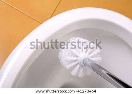 the look at cleaning toilet bowl