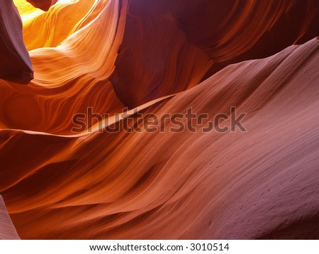 The lower Antelope Slot Canyon near Page  in  Arizona USA