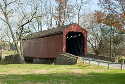 The Loy Covered Bridge located in Thurmont, Maryland.