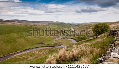 The Lune Head Beck flows through Lunedale at Grains o' th' Beck under the moors of the North Pennines in the Teesdale district of County Durham.