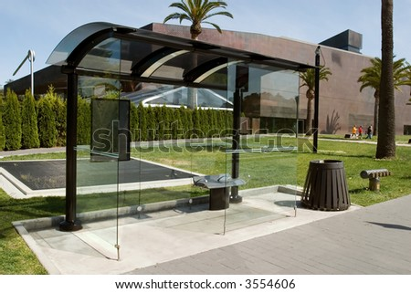 The M.H. de Young bus stop - stock photo