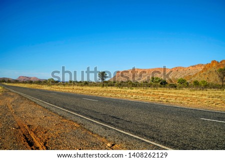 The MacDonnell Ranges, a mountain range which is located in the NT #1408262129
