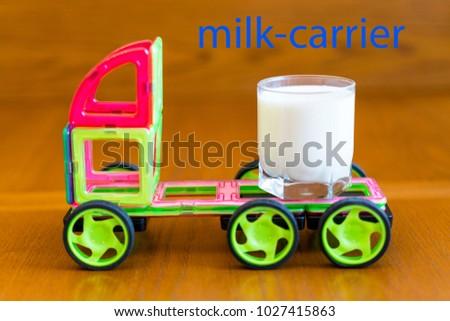 The machine carries milk. #1027415863