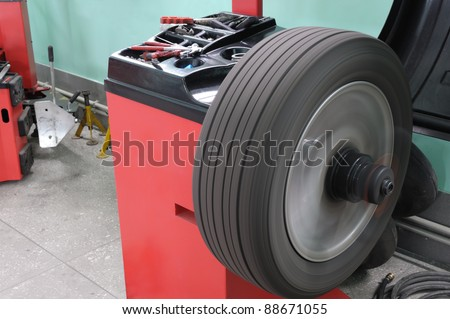 The machine tool for balancing of automobile wheels