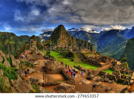 The Machu Picchu in HDR - amazing magical special picture  #279653357