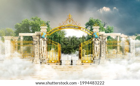 the magnificent gate of heaven 3d illustration  Foto stock ©