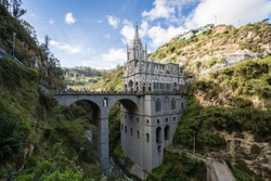 The magnificent Las Lajas Sanctuary on a beautiful afternoon