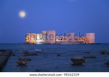 The Maiden's Castle(Kiz kalesi Mersin -Turkey)