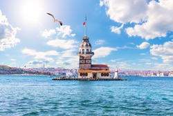 The Maiden's Tower in the Bosphorus, Istanbul, Turkey