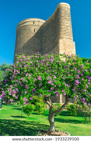 The Maiden Tower in the Old City of Baku, Azerbaijan