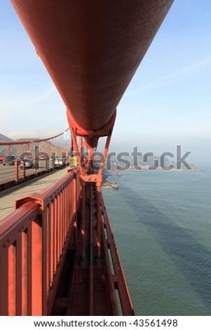 The Main Cable of Golden Gate Bridge, San Francisco, CA, USA