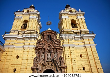 The main Cathedral in Lima, Peru, built in 1540