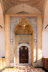 The main door of Gazi Husrev-beg Mosque in old town of Sarajevo, Bosnia and Herzegovina.
