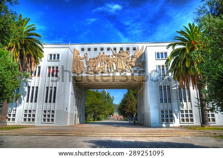Shutterstock The main entrance to University of Concepcion in HDR, Chile
