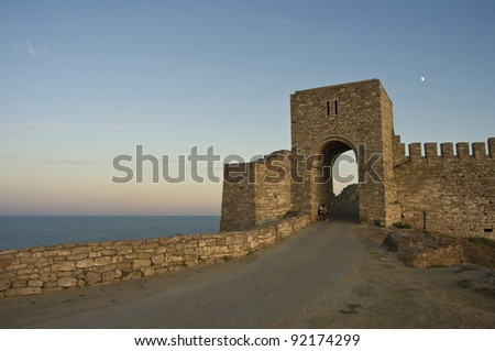 The main gate of medieval fortress of Kaliakra