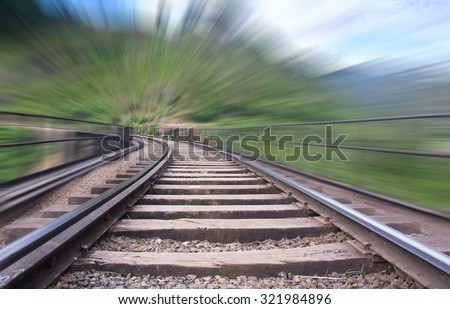 The Main Line Rail Road In Sri Lanka With The Motion Blur . The Line Begins At Colombo Fort And Winds Through The Sri Lankan Hill Country To Reach Badulla