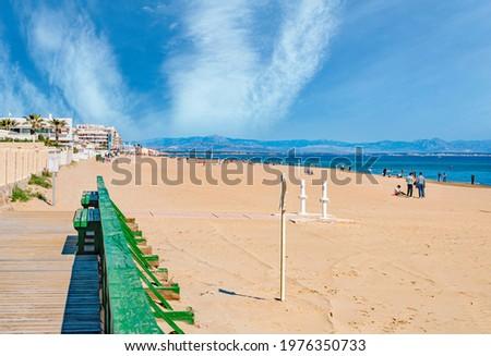 The main reason to visit Guardamar OF THE Segura, its beaches, ALICANTE, SPAIN Stok fotoğraf ©