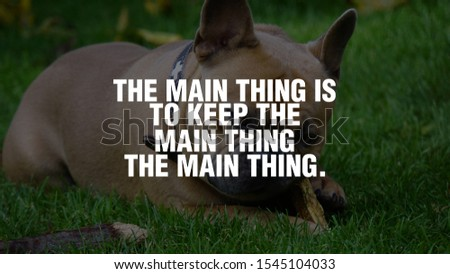 The main thing is to keep the main thing the main thing. #1545104033