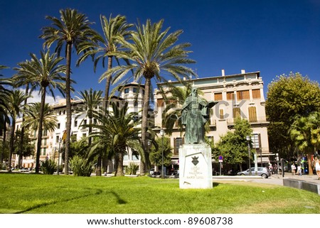 The mainstreet in Palma de Mallorca, Mallorca, Balearic islands, Spain