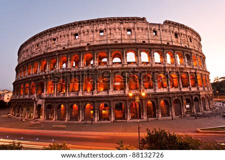 The Majestic Coliseum Amphitheater, Rome, Italy.