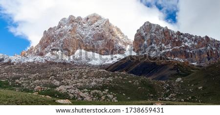 The majestic peak Heydar Aliyev, 3751 meters high, Quba district, Azerbaijan