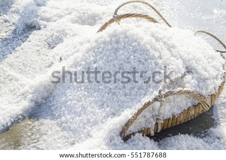 The making of sea salt in the field Foto d'archivio ©