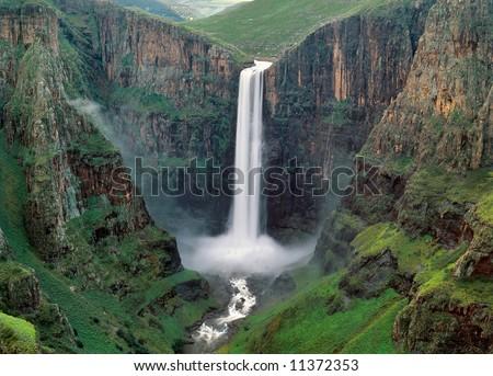 The Maletsunyane Falls  in Lesotho