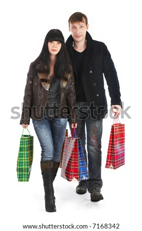The man and the woman - shopping