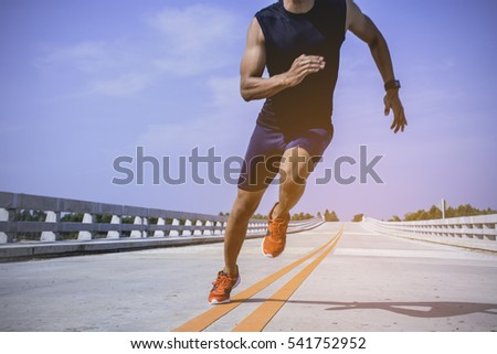 the man athlete runners jogging ...