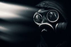 The man in the gas mask