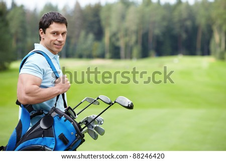 The man on the golf course