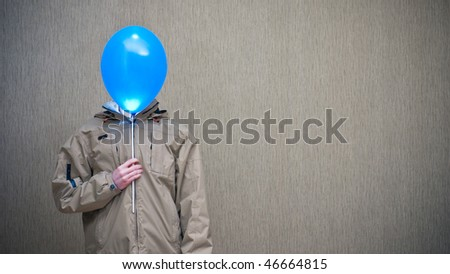 The man with the balloon instead of a head