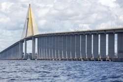 The Manaus-Iranduba Bridge (called Ponte Rio Negro in Brazil) is a bridge over the Rio Negro with 3595 meters of length that links the cities of Manaus and Iranduba. It was opened on Oct 24, 2011