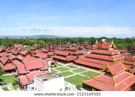 The Mandalay Royal Palace was built by Burmese Royals. On the large complex are dozens of buildings including audience halls, throne halls, a court building, a tooth relic building #1521169505