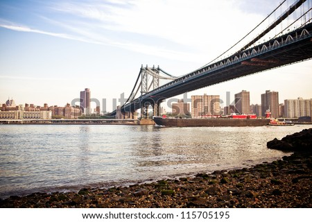 The Manhattan Bridge - stock photo
