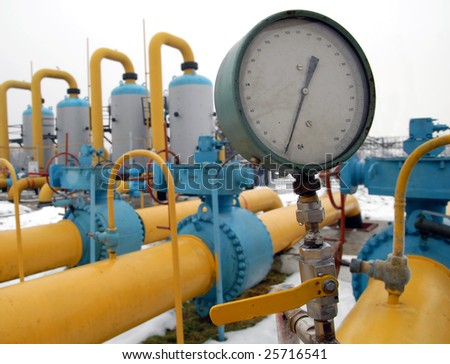 the manometer and pipeline station equipment