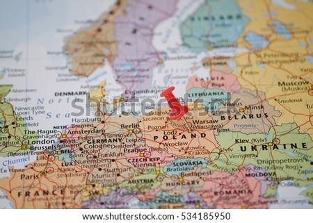 Warsaw Europe Map.Free Photos Warsaw Pinned On A Map Of Europe Avopix Com