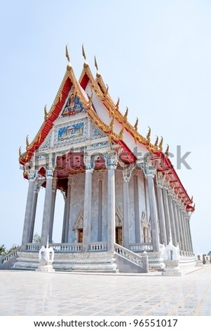 the marble's ordination hall in Thailand