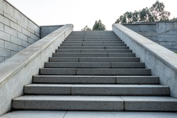 The marble steps of the stairs.