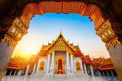 The Marble Temple, Wat Benchamabophit Dusitvanaram Bangkok THAILAND ,Public place