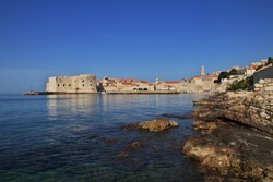 The marina in Dubrovnik city on Adriatic sea, Croatia