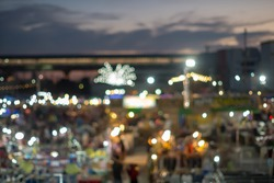 The market in the beautiful sky Remark : blur photo