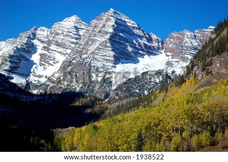 The Maroon Bells iconic mountains of Colorado