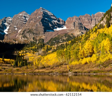 The Maroon Bells With Maroon Lake