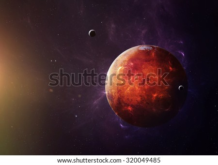 Shutterstock The Mars shot from space showing all they beauty. Extremely detailed image, including elements furnished by NASA. Other orientations and planets available.