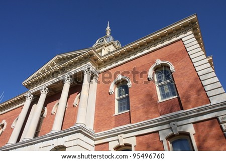 The Marshall County Courthouse in Plymouth Indiana