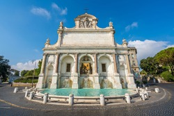 The marvelous Acqua Paola Fountain in Rome, Italy.